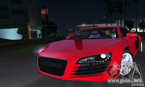 Audi R8 4.2 FSI para vista lateral GTA San Andreas