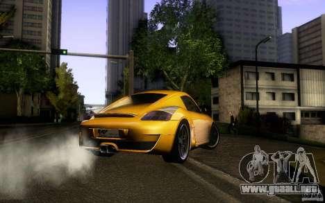 Ruf RK Coupe V1.0 2006 para visión interna GTA San Andreas