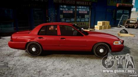 Ford Crown Victoria Detective v4.7 red lights para GTA 4 vista hacia atrás