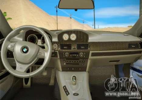BMW M3 GT-S Final para la vista superior GTA San Andreas