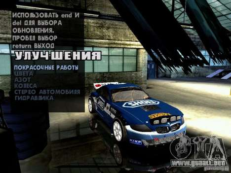 BMW Z4 Rally Cross para vista lateral GTA San Andreas