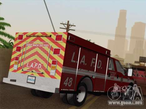 Ford F-350 Super Duty LAFD para vista inferior GTA San Andreas
