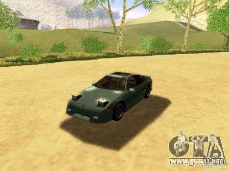 Pontiac Fiero V8 para el motor de GTA San Andreas