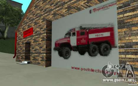 Parque de bomberos ruso en San Fierro para GTA San Andreas tercera pantalla
