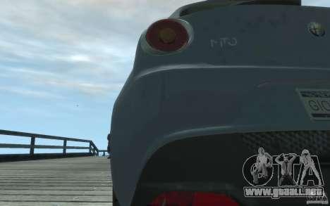Alfa Romeo Mito para GTA 4 vista hacia atrás