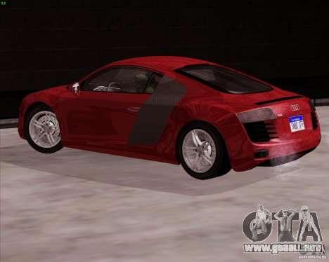 Audi R8 Production para GTA San Andreas left