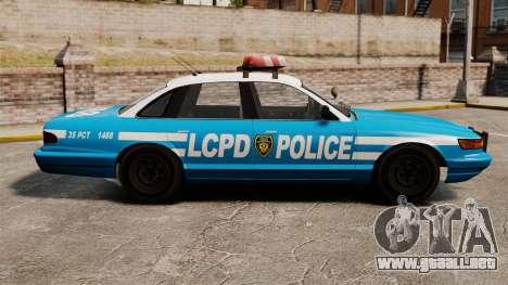 Vapid Police Cruiser ELS para GTA 4 left