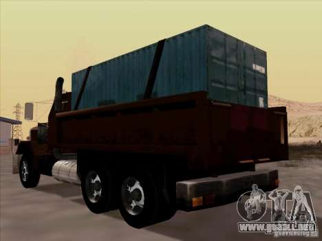 New Flatbed para GTA San Andreas vista hacia atrás
