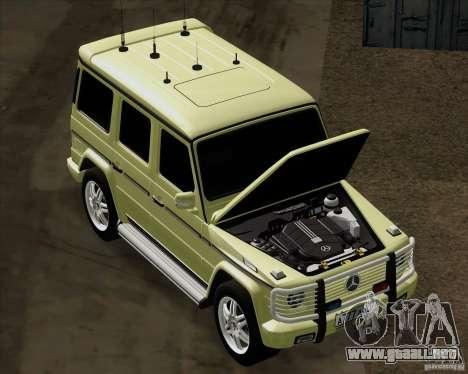 Mercedes-Benz G500 1999 para la visión correcta GTA San Andreas