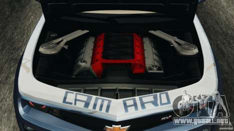 Chevrolet Camaro ZL1 2012 v1.0 Smoke Stripe para GTA 4 vista superior