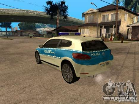 Volkswagen Scirocco German Police para GTA San Andreas left