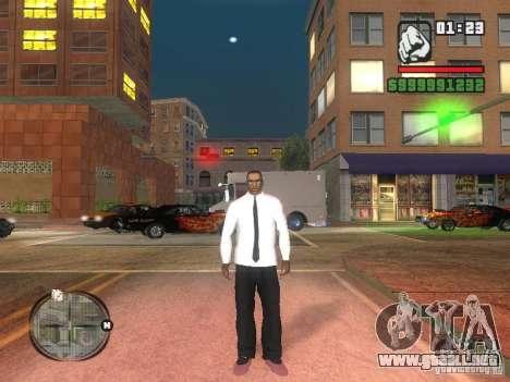 Camisas con corbata para GTA San Andreas segunda pantalla