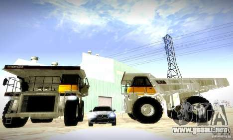 Caterpillar 777D para GTA San Andreas left