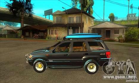 Jeep Grand Cherokee 2005 para GTA San Andreas left