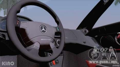 Mercedes-Benz CLK GTR Road Carbon Spoiler para GTA San Andreas interior