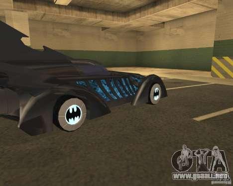Batmobile para GTA San Andreas vista posterior izquierda