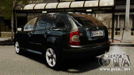 Skoda Fabia Combi Unmarked ELS para GTA 4 Vista posterior izquierda