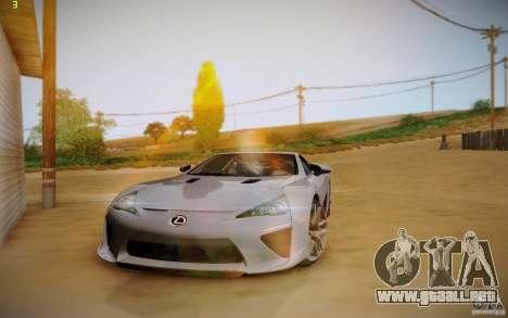 Lexus LFA para visión interna GTA San Andreas