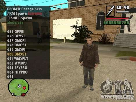 GTA IV peds to SA pack 100 peds para GTA San Andreas