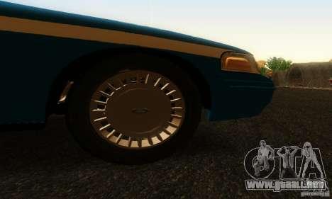 Ford Crown Victoria Wisconsin Police para la visión correcta GTA San Andreas