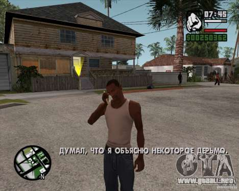 NES para GTA San Andreas segunda pantalla