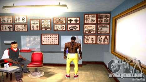Tres nuevo tatuaje para GTA San Andreas décimo de pantalla