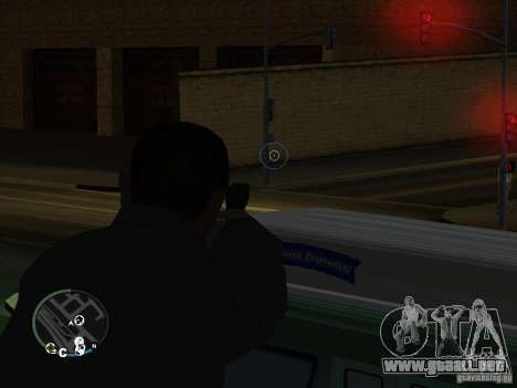 HUD y las armas de GTA IV para GTA San Andreas segunda pantalla