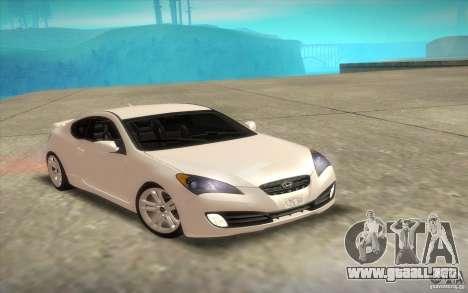 Hyundai Genesis 3.8 Coupe para la vista superior GTA San Andreas