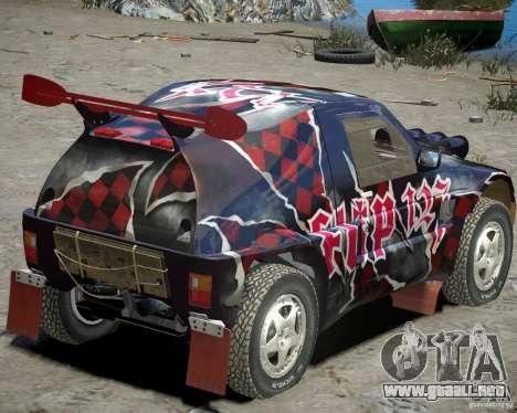 Mitsubishi Pajero Proto Dakar vinilo 3 para GTA 4 visión correcta