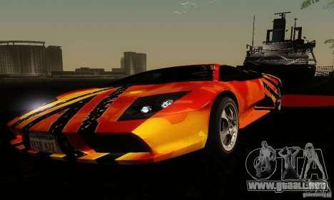 Lamborghini Murcielago para vista lateral GTA San Andreas