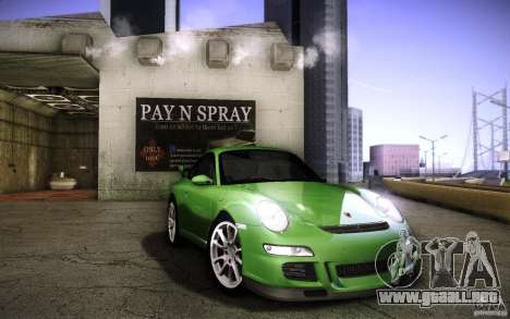 Porsche 911 GT3 (997) 2007 para visión interna GTA San Andreas
