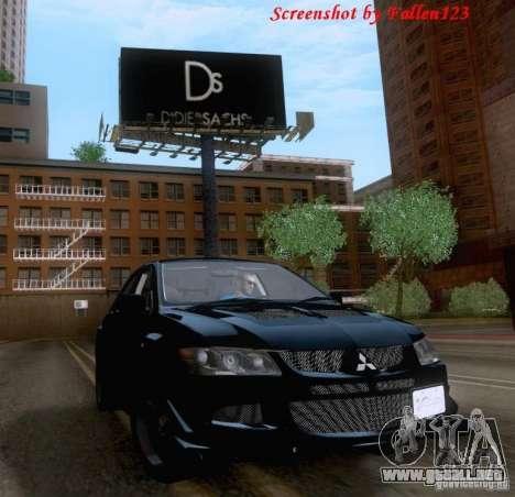 Mitsubishi Lancer Evolution VIII Varis para la visión correcta GTA San Andreas