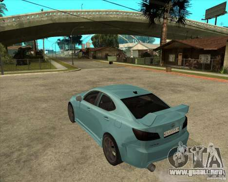 2007 Lexus IS350 para GTA San Andreas left