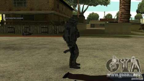 Roach from CoD MW2 para GTA San Andreas tercera pantalla