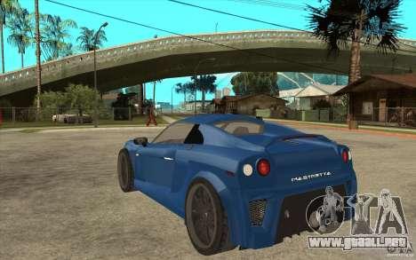 Mastretta MXT v1.1 para GTA San Andreas vista posterior izquierda