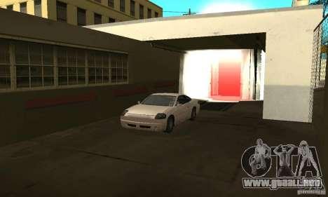 Lavado de coches para GTA San Andreas segunda pantalla