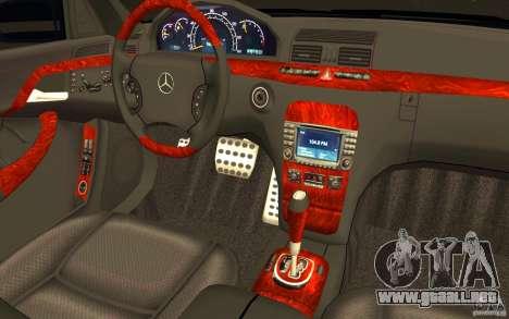 Mercedes-Benz S600 Pullman W220 para la vista superior GTA San Andreas
