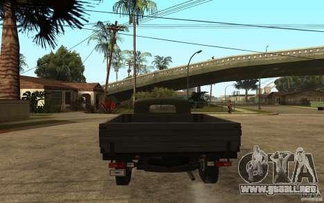 UAZ 300 para GTA San Andreas vista posterior izquierda