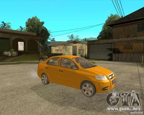 Chevrolet Aveo 2007 para la visión correcta GTA San Andreas