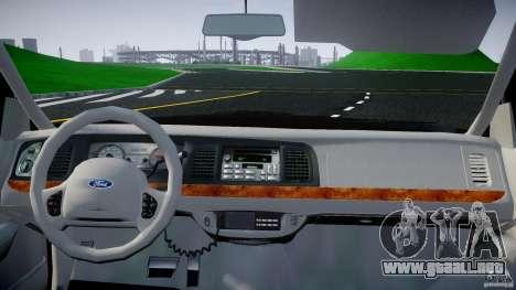 Ford Crown Victoria 2003 v2 FBI para GTA 4 visión correcta