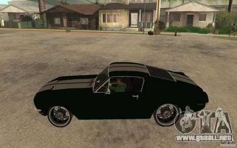 Ford Mustang TOKYO DRIFT para GTA San Andreas left