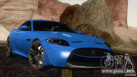 Jaguar XKR-S 2011 V1.0 para la vista superior GTA San Andreas