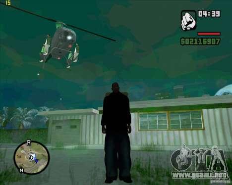 Ayuda de helicóptero para GTA San Andreas sucesivamente de pantalla