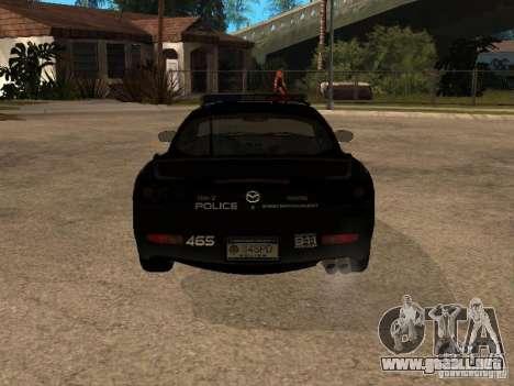 Mazda RX-7 Police para la visión correcta GTA San Andreas