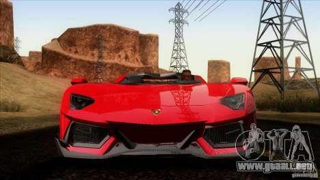 Lamborghini Aventador LP-700 J para vista inferior GTA San Andreas