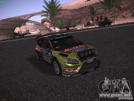 Ford Focus RS WRC 2010 para GTA San Andreas left