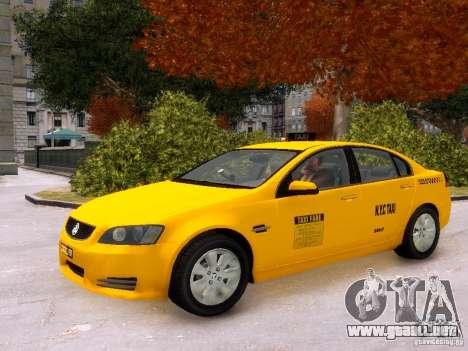 Holden NYC Taxi V.3.0 para GTA 4 vista interior
