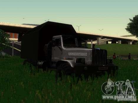 KrAZ-254 para GTA San Andreas vista hacia atrás