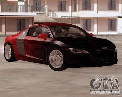 Audi R8 Production para GTA San Andreas vista hacia atrás
