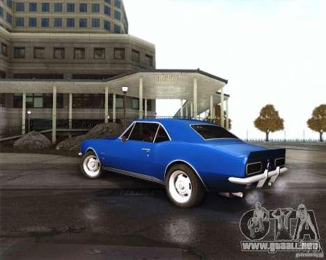 Chevrolet Camaro 1969 para la visión correcta GTA San Andreas